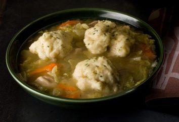 Soupe aux boulettes dans un bouillon de poulet: recette