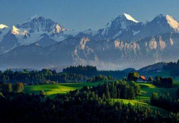 datos interesantes sobre Suiza. Mapa de Suiza. Idioma en Suiza