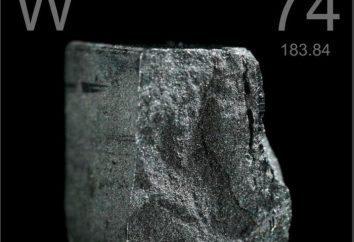 Tungstênio – o que é isso? O grau de oxidação do tungsténio. Áreas de aplicação de tungstênio