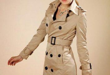 Frauen-Trenchcoat: einen Stil auswählen, was zu tragen