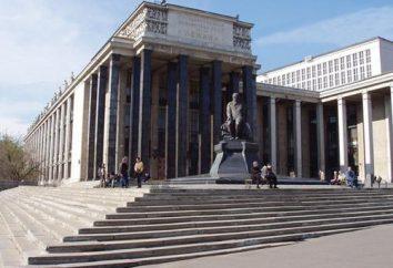 La bibliothèque de Lénine. La bibliothèque de Moscou Lénine