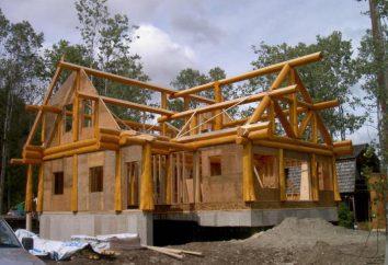 Casa norueguesa do feixe vertical. Projetos de casas sobre a tecnologia norueguesa. Fotos de casa no estilo norueguês