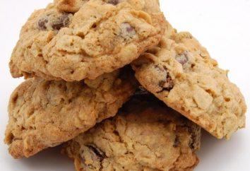 Passo dopo passo la ricetta per i biscotti di farina d'avena in casa con l'uso di noci e uvetta