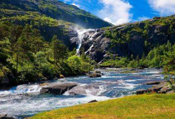 Lo que es River Falls y su régimen? La pendiente y la caída de los ríos más grandes del planeta