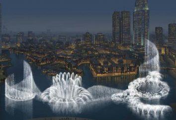 Śpiew i taniec fontanny w Dubaju