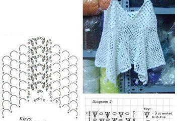 Mikes Haken: das Beschreibungsschema. Tops und T-Shirts Haken: durchbrochene Muster
