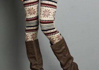 leggings d'hiver – les règles de sélection et de combinaison