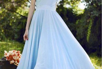 Szyfonowa sukienka – jasny strój, który nie wymaga dekoracje