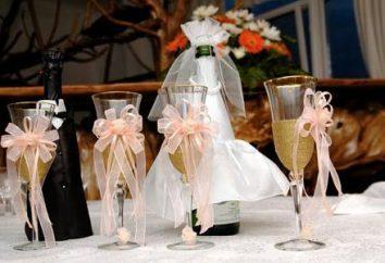 Jak zrobić szkło dla nowożeńców własnymi rękami: pomysły i przydatne wskazówki