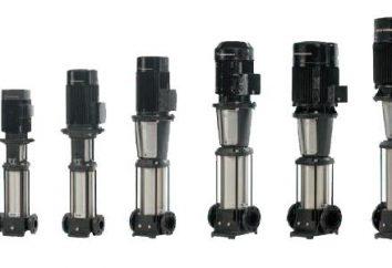 Les pompes submersibles centrifuges, le dispositif et l'utilisation de pompes pour les puits et les puits
