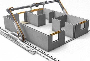 Construire l'imprimante 3-D. Nouvelle technologie de construction de maisons