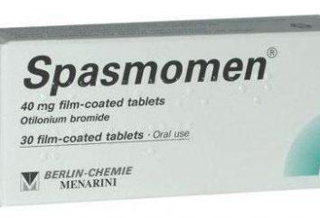 Le médicament « Spazmomen »: instructions pour les tablettes d'utilisation, critiques, des descriptions, des analogues