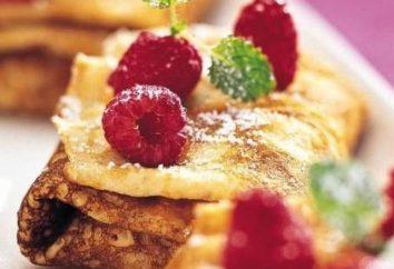 """panqueques deliciosos en las """"bolas de nieve"""": recetas de cocina y características"""