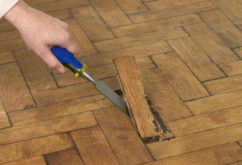 Boden Reparaturen in der Wohnung mit den Händen in Stufen: professionelle Beratung