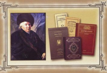 "Derzhavin G. R. ode ""Felitsa"": résumé et une analyse littéraire"