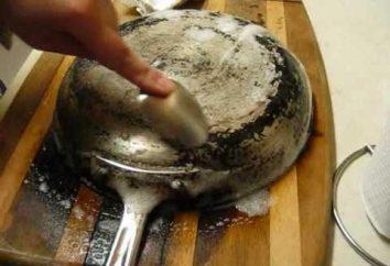 Comment laver la casserole d'un dépôt? Comment nettoyer une fonte, casserole en aluminium ou téflon d'un dépôt?