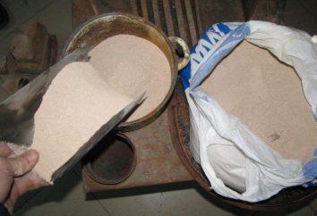 Une solution du four pour la pose des briques: les composants, les proportions, de la préparation