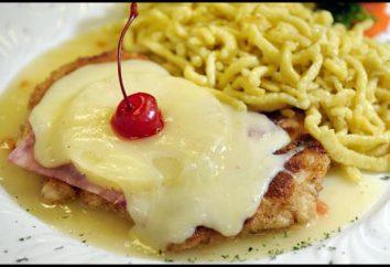 chuletas de pollo con queso y piña – jugosa y tierna plato