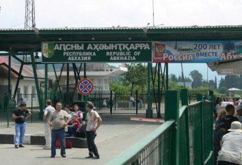 La frontière de la frontière russo-abkhaze: description, les spécificités des documents et