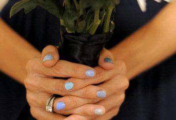 Azuis Nails: idéias manicure, design e recomendações