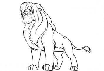 """Jak narysować lwa """"The Lion King"""" – jeden z najbardziej ulubionych postaci z kreskówek u dzieci"""