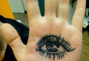 Tatuaż na dłoni: bielizna wyposażony obrazy