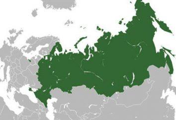 posición geográfica de Rusia. La posición geográfica de Rusia, el área de zona, los puntos extremos