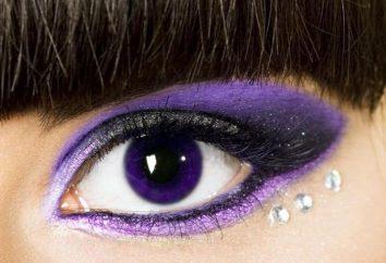 lentilles violettes pour l'œil: les règles d'utilisation