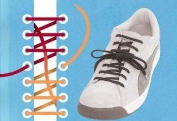Wie schön die Schnürsenkel auf Turnschuhe binden?