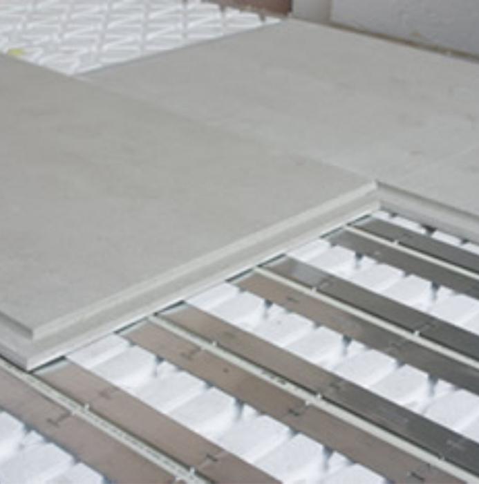 La Production De La Societe Knauf Elements De Plancher Pour Chape Seche