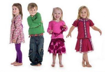 Les tailles de vêtements et chaussures pour enfants