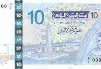 Dinar tunisiano. Moeda TND Tunísia. História da unidade monetária. O design de moedas e notas.