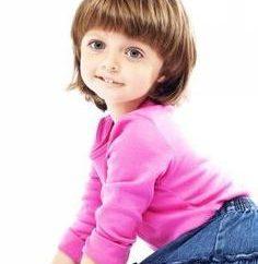 penteados das crianças para o cabelo curto para as meninas
