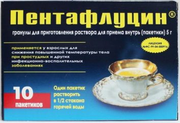 La médecine anti-inflammatoire et antipyrétique « Pentaflutsin »: mode d'emploi