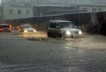 Anapa. Inondazioni e pioggia tropicale