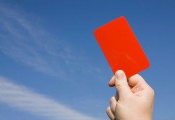 O que faz o cartão vermelho no futebol? Cartões vermelhos nas estatísticas e regulamentos de futebol