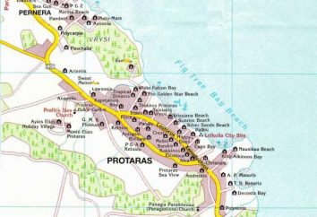 Protaras – plage. Protaras – carte. plages Protaras – photo
