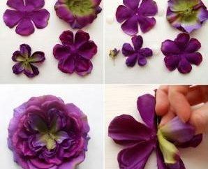 Utwórz kwiat z tkanki własnymi rękami, a nie tak trudno, jak się wydaje