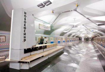 """A estação de metro """"Comprar"""". área metropolitana Novokosino"""