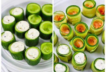 Cetrioli farciti con gamberi. Un piccolo capolavoro in colore verde