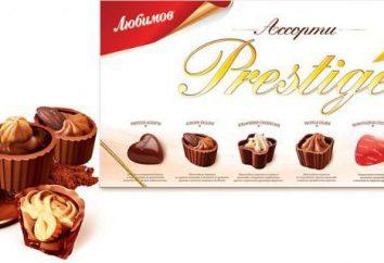 """Cukierki """"Lyubimov"""": rodzaje, projektowanie, producent, cena"""