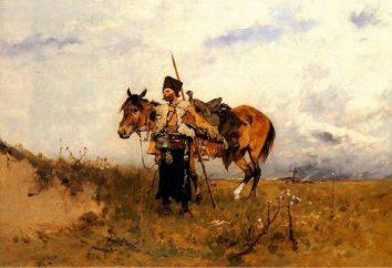 Kozak szeregi, szeregi i insygnia. Stanowisko rangi kozackiego