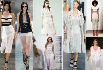 Tendance de la mode – jupe transparente