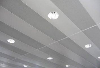 plafond suspendu en panneaux d'aluminium: la dignité, l'installation, le prix. plafond Rack