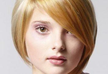 coupes de cheveux de style pour les cheveux courts pour visage rond