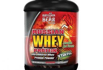 Les protéines sont en Russie et commentaires à ce sujet