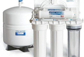 Le filtre flux principal d'eau: un examen, les types, les caractéristiques, les caractéristiques et les examens de choix