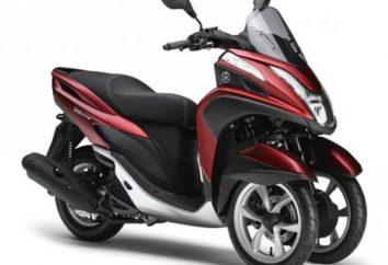 Scooter de tres ruedas, dos ruedas motrices o de tracción delantera, dos traseros