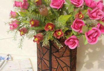 Vase aus Pappe (mit den Händen). Verfahren zur Herstellung von
