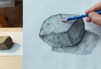 Jak rysować kamienie ołówkiem: krok po kroku
